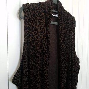 Velvety Leopard Print Vest by Susan Graver
